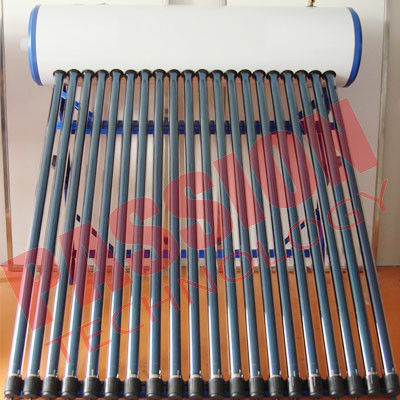 Customized Color Heat Pipe Solar Water Heater Rooftop High Efficiency