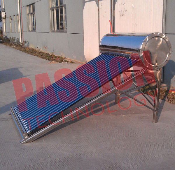 150L Vacuum Tube Solar Water Heater Non Pressurized With Special Absorptive Coating