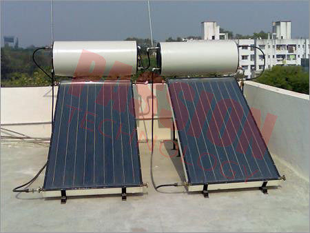 Integrated Colored Steel Blue Titanium Flat Panel Solar Water Heater For Pitched Roof