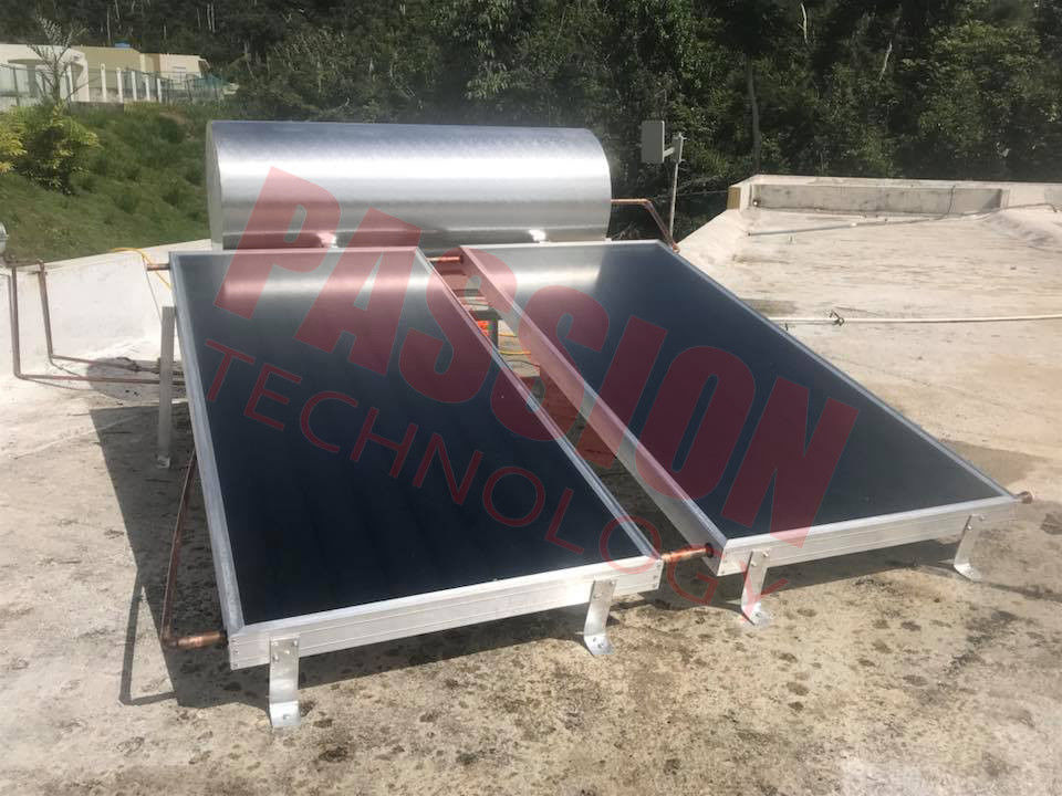 250L CE Integrative Flat Plate Solar Water Heater Stainless Steel Home Use