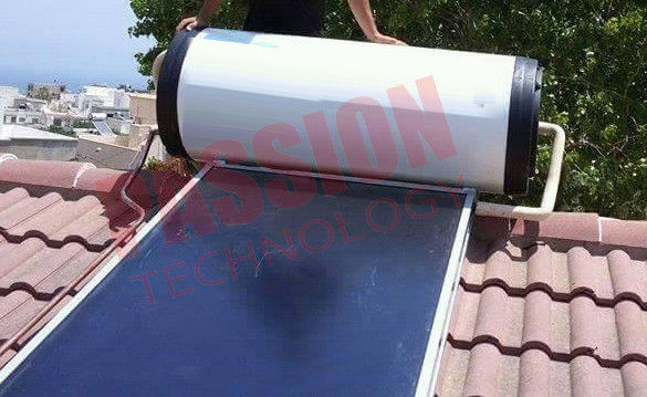 Flat Plate Solar Thermal Collector Hot Water Heater , Roof Mounted Solar Water Heater