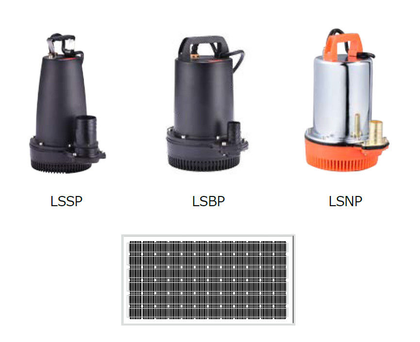 Submersible Solar Submersible Water Pump For Agriculture , LSSP / LSBP / LSNP Series