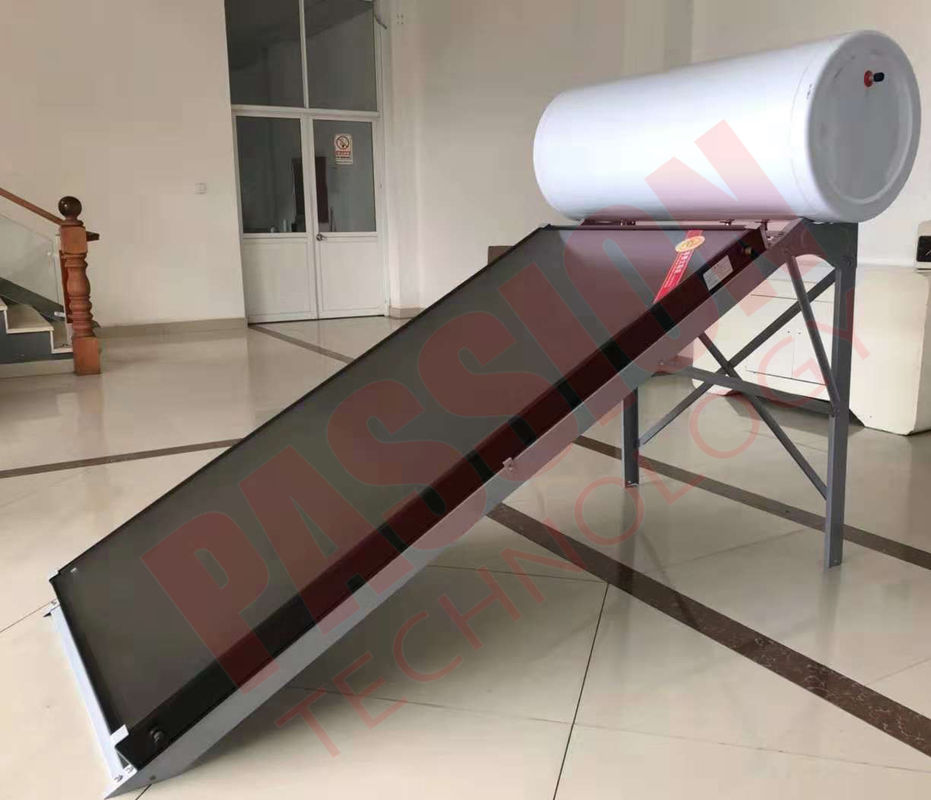 200L White Tank Flat Plate Solar Water Heater For Bathroom Heating , Washing / Sun Energy Heater